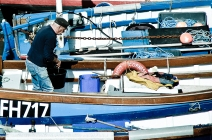 preparing the boat
