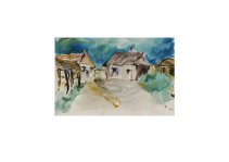 27 Wight Farm Isle of Wight Aquarell /2013