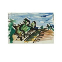 32 Public Footpath Isle of Wight Aquarell /2012/