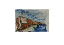 33 Whale Chine Isle of Wight Aquarell /2012/