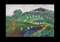 "48 View from Carisbrooke Castle II ""Newport Graveyard"" Isle of Wight Acryl /2007/"