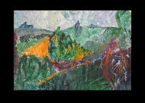 49 View from Carisbrooke Castle III Isle of Wight Acryl /2007/