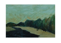 57 Low tide at Helford River Cornwall Acryl /2014/