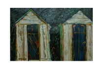 60 Cabins at Bonchurch Beach Isle of Wight Acryl /2007/